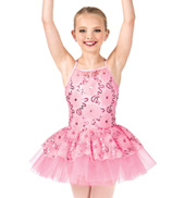Child Embroidered Flower Camisole Tutu Costume Dress