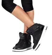 Kids Glam Pie Glitter Black Sneakers