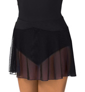 Womens Dotted Mesh Ballet Skirt