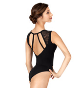 Adult Strappy Lace Tank Leotard