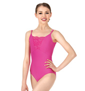 Womens Lace Insert Camisole Leotard