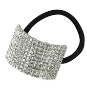 Crystal Cuff Ponytail Binders Large