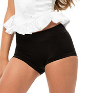Womens/Girls Truth Banded Tricot Shorts without Rhinestones