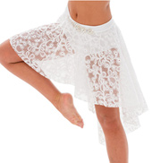 Womens/Girls Empty Words Lace High-Low Skirt