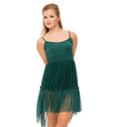 Womens/Girls Silhouettes Camisole High-Low Dress without Rhinestones