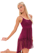 Womens/Girls Silhouettes Camisole High-Low Dress with Rhinestones