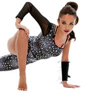 Adult/Girls Wild One Asymmetrical Unitard with Rhinestones