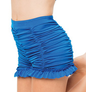 Womens/Girls Wipeout High Waist Ruched Shorts without Rhinestones