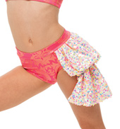 Womens/Girls Work Bustled Filigree Shorts