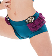Womens/Girls Gimme More Lace Ruffle Banded Shorts