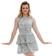 Adult/Girls Whisper Tank Dress with Rhinestones