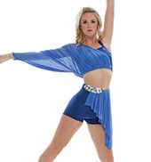 Adult/Girls Ship to Wreck Tiered Mesh Drape Costume Set without Rhinestones