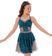 Womens/Girls Dont You Remember Lace Tank Lyrical Dress with Rhinestones