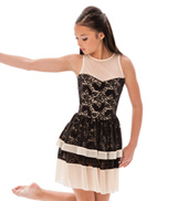 Womens/Girls Fade Away Paisley Lace Tank Dress without Rhinestones