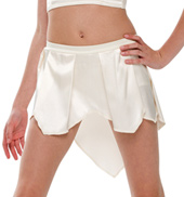 Adult/Girls Time is Dancing Satin Skirt without Rhinestones