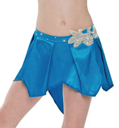 Adult/Girls Time is Dancing Satin Skirt with Rhinestones
