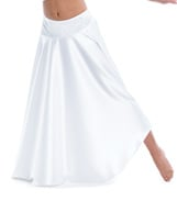 Adult/Girls The Words Long Satin Skirt with Rhinestones