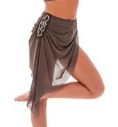 Womens/Girls Landslide Long Mesh Bustle Skirt