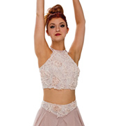 Adult/Girls What is Love Halter Crop Top without Rhinestones