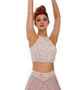 Adult/Girls What is Love Halter Crop Top with Rhinestones