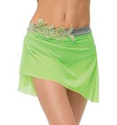 Womens/Girls Sweet Love Gathered Short Mesh Skirt without Rhinestones