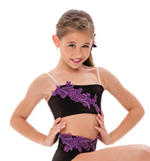 Womens/Girls Imagination Strappy Back Camisole Bra Top without Rhinestones