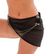 Womens/Girls Lightweight Short Asymmetrical Open Side Skirt