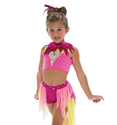 Adult/Girls Say Somethin Costume Set with Rhinestones & without Feathers