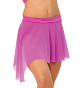 Womens/Girls All We Are Asymmetrical Short Mesh Skirt without Rhinestones