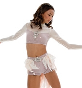 Adult/Girls Turn to Stone Costume Set with Rhinestones