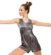 Womens/Girls If Im Honest Satin Tank Shorty Unitard without Rhinestones
