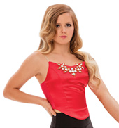 Womens/Girls Lost Boy Satin Camisole Crop Top without Rhinestones
