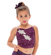 Womens/Girls Lost Boy Satin Camisole Crop Top with Rhinestones