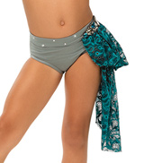 Womens/Girls Beyond Words Lace Bustled Brief with Rhinestones