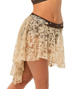 Womens/Girls Best For Last High-Low Lace Skort with Rhinestones
