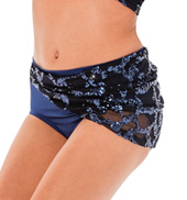 Womens/Girls Show You Sequined Mesh Wrapped Briefs without Rhinestones