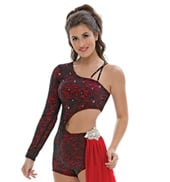 Adult/Girls Body Language Bustle Unitard with Rhinestones