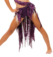 Womens/Girls Beggin For Thread Spiral Mesh High-Low Bustle Skirt
