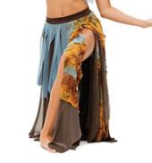Womens/Girls Triumph Tattered Handkerchief Hem Long Skirt