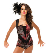 Womens/Girls Survivor Tattered Sleeveless Leotard