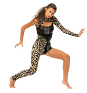 Womens/Girls Who Knew Mesh Filigree Asymmetrical Jumpsuit with Chain Accents