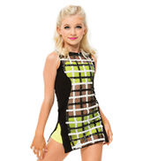 Womens/Girls Sorry Mod Patterned Sleeveless Short Dress Set