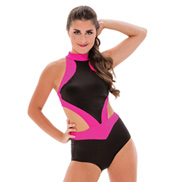 Womens/Girls We Dont Talk Anymore Two-Tone Halter Leotard without Rhinestones