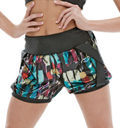 Adult/Girls Cross my Heart Printed Shorts