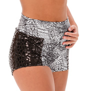 Womens/Girls This Is How We Roll High Waist Mirrored Shorts