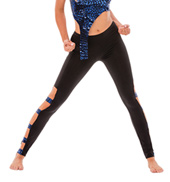 Womens/Girls Here We Go Again Mirror Insert Leggings