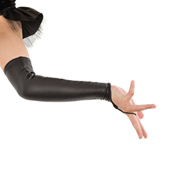 Womens/Girls Elbow-Length Pleather Gauntlets
