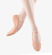 Adult Dansoft Leather Full Sole Ballet Slippers