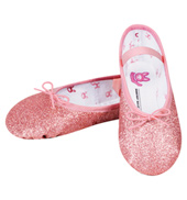Girls Glitterdust Full Sole Ballet Shoes