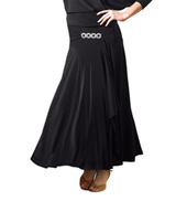 Adult Rhinestone Buckle Long Ballroom Skirt